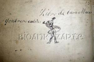 Anotación al final del libro nº 19 del Archivo Municipal de Vidángoz, un libro de cuentas que finaliza en 1863.