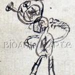 El monigote dibujado, a detalle.